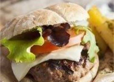 Large image for cheese and bacon burgers recipe.