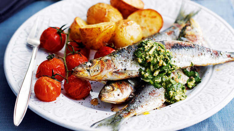 Cornish sardines with salsa verde image