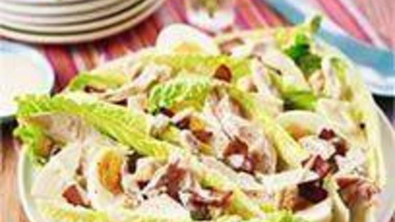 Large image for Sainsbury's Hot chicken Caesar salad recipe