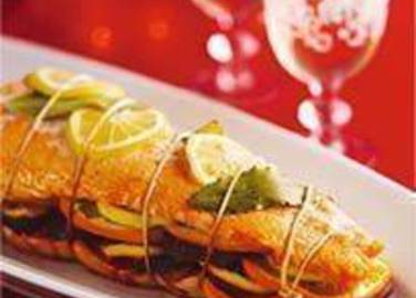 Large image for Sainsbury's Succulent stuffed salmon recipe