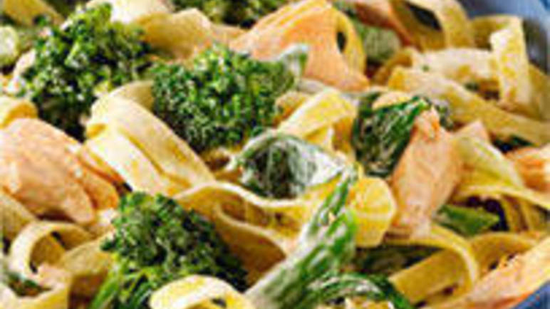 Large image for Bellaverde broccoli and salmon tagliatelle recipe on Sainsbury's Online