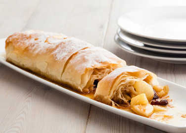 Toffee apple & pear strudel image