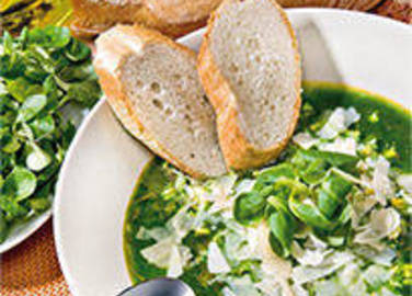 Large image for Spinach and Paremsan soup recipe on Sainsbury's Online