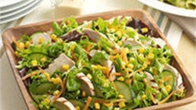 Large image for Family chicken and sweetcorn salad recipe on Sainsbury's Online