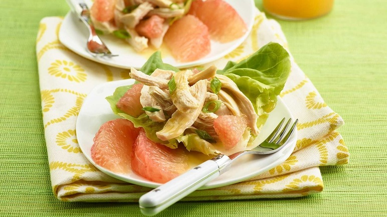 Image: Florida Grapefruit, Poached Chicken and Lettuce Salad