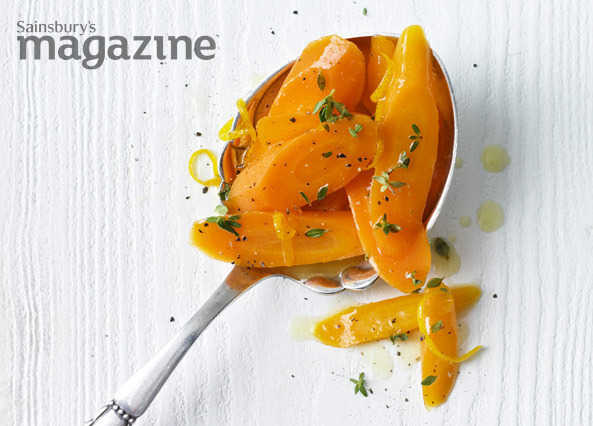Glazed carrots with orange and thyme