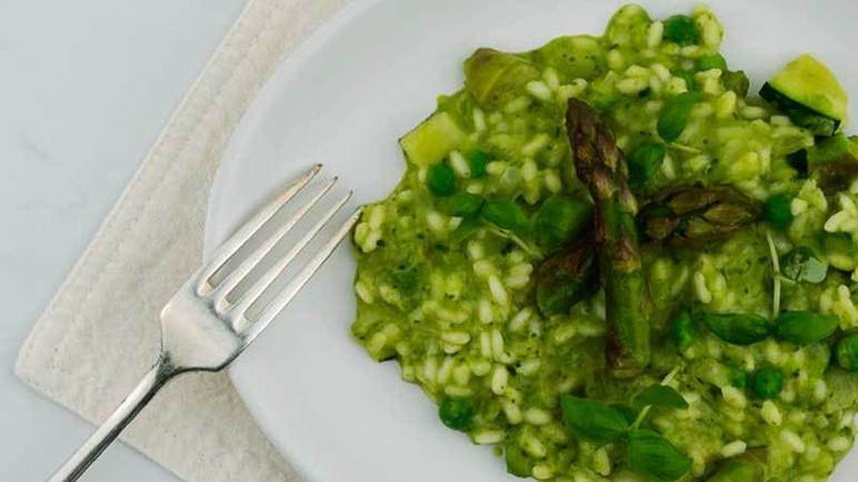 Image: Spring vegetable risotto