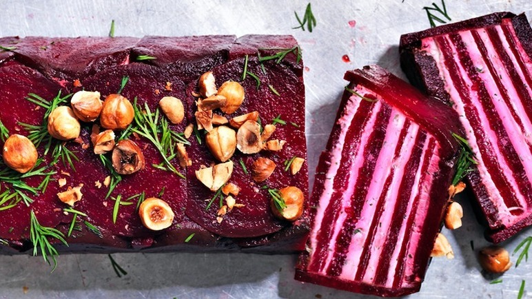 Image: Beetroot and goat's cheese terrine