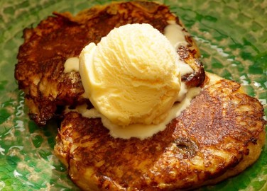 Image: Chetna Makan's carnamom and orange hot cross bun French toast