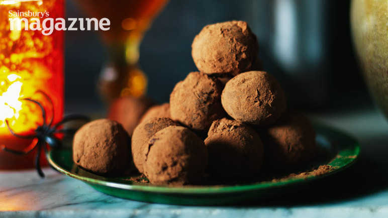 Chilli, ginger and chocolate truffles