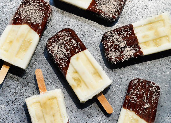 Image: Fruity coconut yoghurt lollies