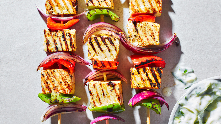 Image: Vegan Indian-spiced tofu kebabs