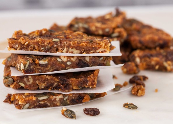 Image: Jason Vale's pecan power granola bars