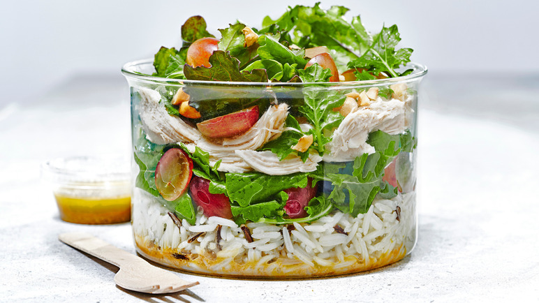 Image: Epic roast chicken salad with grapes and wild rice