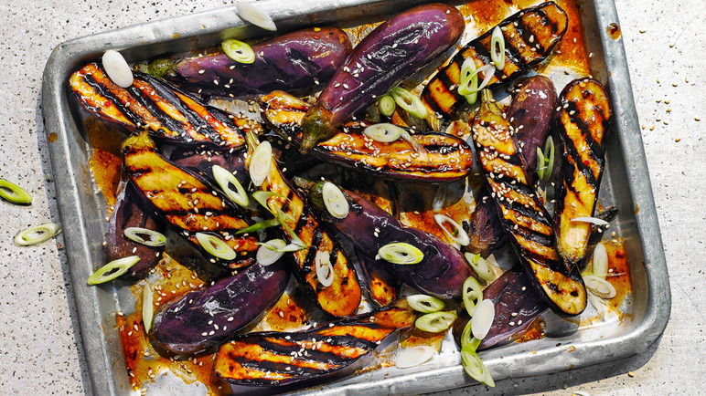 Image: Miso and honey aubergine
