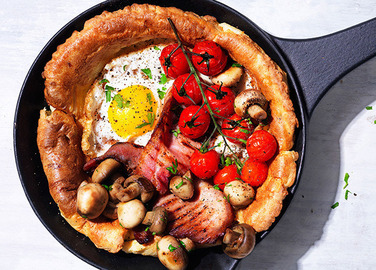 Image: Full English breakfast pancake