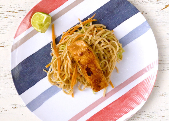 Image: Miso salmon with noodles