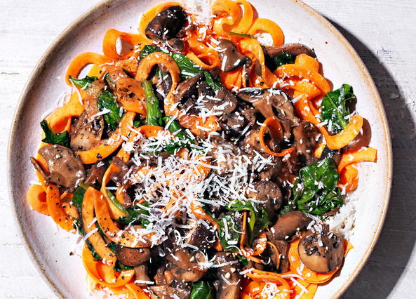 Image: Mushroom ragu with sweet potato tagliatelle