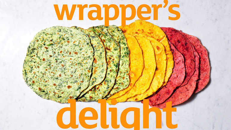 Recipe Rainbow Tortilla Wraps Recipes
