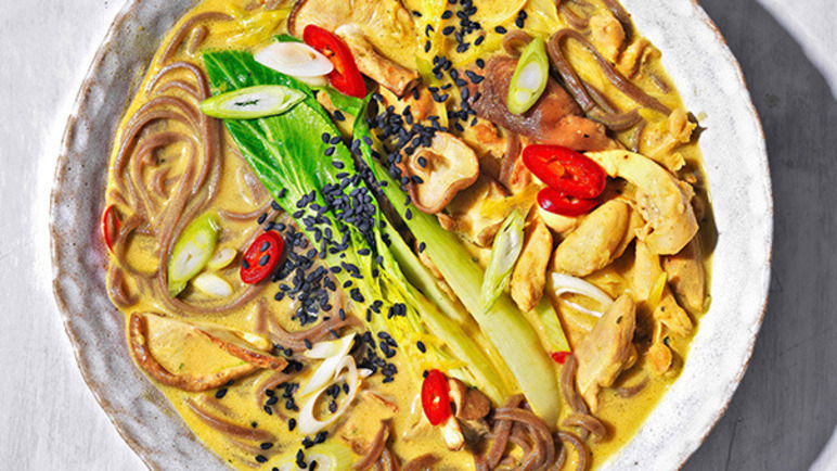 Recipe: Quick chicken ramen with turmeric, miso and ...