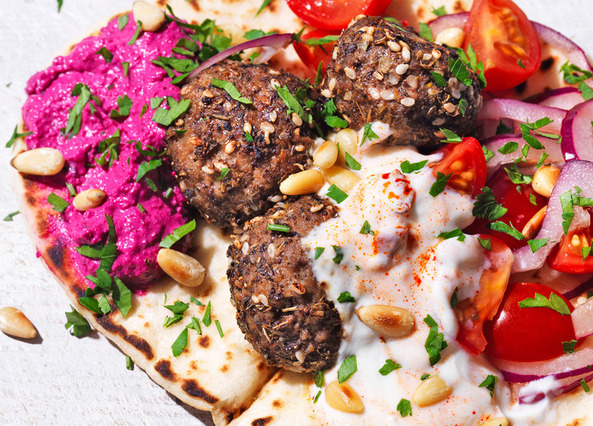 Image: The ultimate lamb meatball wraps