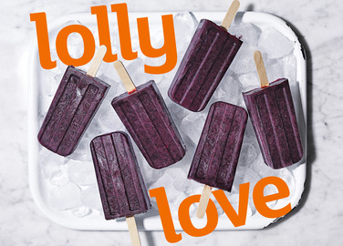 Image: Lip stain blueberry ice lollies