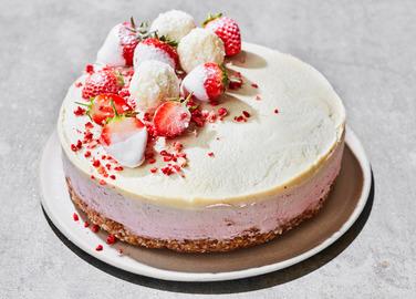 Image: Raw vegan cheesecake