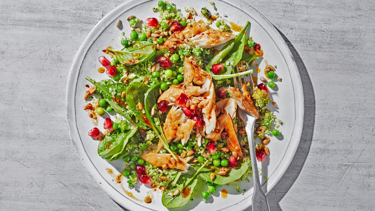 Image: Quick Moroccan-spiced mackerel with broccoli rice
