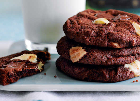 Recipe: Triple chocolate cookies | Sainsbury's