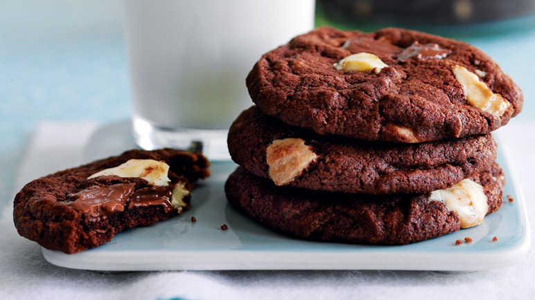 double chocolate chip cookies recept