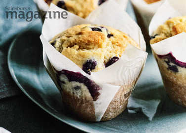Blueberry, lemon and olive oil muffins