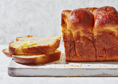 Image: Golden brioche loaf