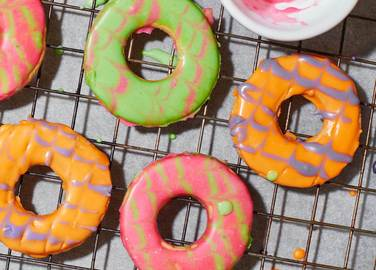 Image: Homemade party rings