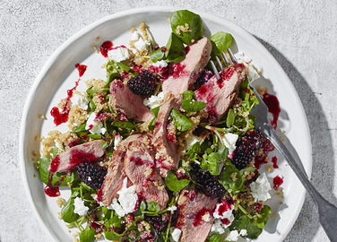 Image: Roasted duck salad with quinoa and blackberry