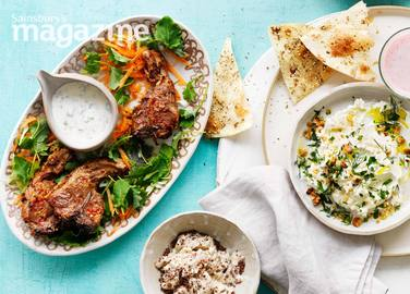 Image: Thai lamb chops with lime and coriander yogurt
