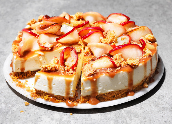 Image:  Toffee apple crumble cheesecake