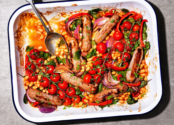 Image: Sausage and bean casserole
