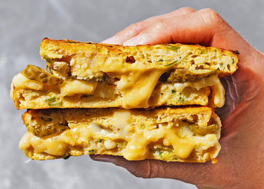 Image: Gluten-free cauliflower cheese toastie