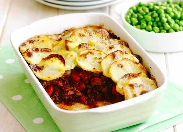 Crispy topped cottage pie image