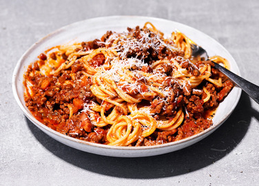 Image: Beer spaghetti bolognese