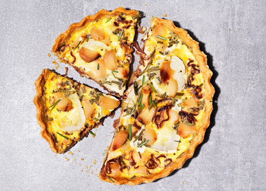 Image: Caramelised garlic quiche