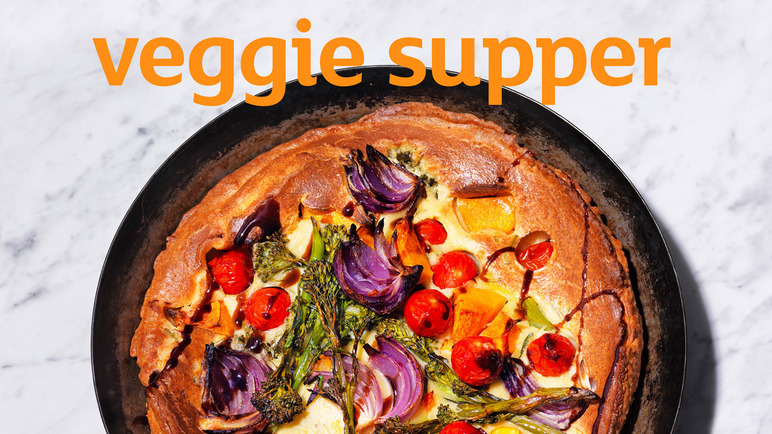 Image: Veggie toad in the hole