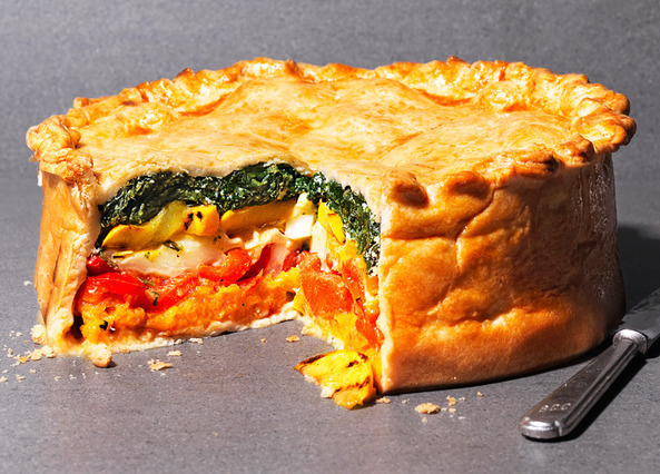 recipe rainbow vegetable pie sainsbury s