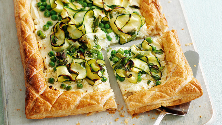 Easy courgette tart image