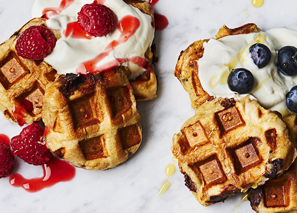 Image: Hot cross bun waffles