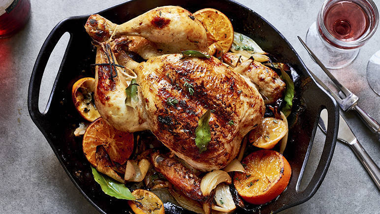 Image: Rosé roast chicken