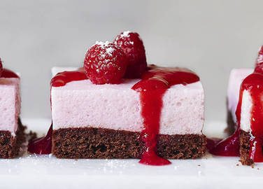 Image: Raspberry mousse slice