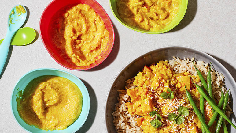 Image: Coconut and butternut squash dahl
