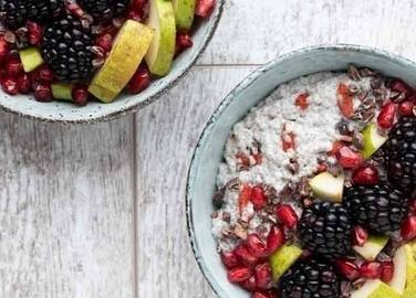 Image: Goji berry and Chia seed breakfast bowl