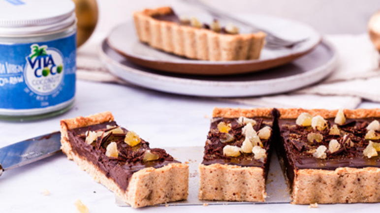 Image: Vita Coco Chocolate Ganache and Ginger Tart